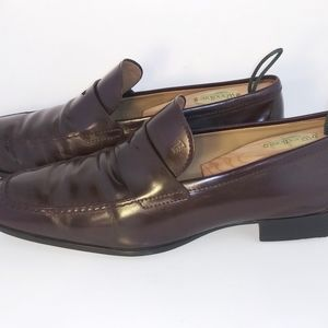 Tods Brown Patent Leather Loafers Mens Size 8.5